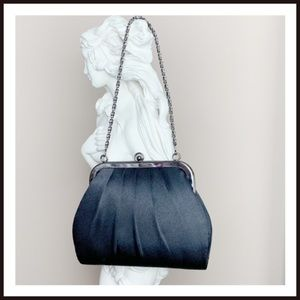 Black Evening Bag With Chain